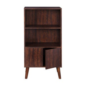 The Best Bookcases Option: VASAGLE Bookcase, 2-Tier Retro Bookshelf with Doors