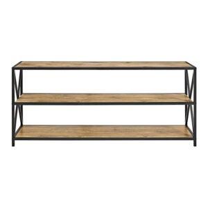 The Best Bookcases Option: Walker Edison 2 Shelf Industrial Wood Metal Bookcase