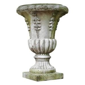 The Best Concrete Garden Statue Option: Fleur De Lis Living Renville Cast Stone Urn Planter