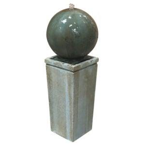 The Best Concrete Garden Statue Option: Ivy Bronx Pitre Dorset Cement Sphere Fountain