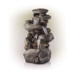 The Best Lawn Ornament Option: Alpine Corporation 4-Tier Rock Water Fountain