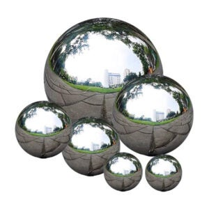The Best Lawn Ornament Option: zosenda Stainless Steel Gazing Ball, 6 Pcs
