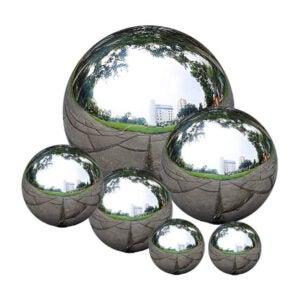 最好的草坪饰品选项:Zosenda不锈钢凝视球,6个PC