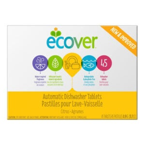 The Best Natural Dishwasher Detergent Option: Ecover Automatic Dishwasher Soap Tablets, 45 Count
