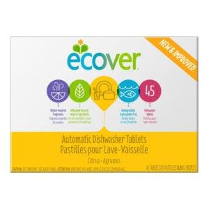 最好的天然洗碗机洗涤剂选择:Ecover自动洗碗机肥皂片,45次