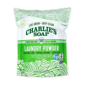 The Best Natural Laundry Detergent Option: Charlie's Soap Laundry Powder, 100 Loads, 1 Pack