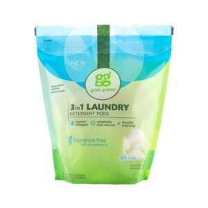 The Best Natural Laundry Detergent Option: Grab Green Natural 3 in 1 Laundry Detergent Pods