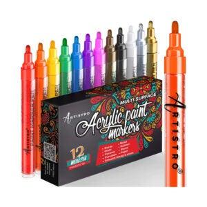最佳玻璃油漆选择:ARTISTRO油漆笔用于岩石绘画,陶瓷,玻璃