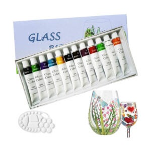 The Best Paint for Glass Option: Magicdo Stained Glass Paint with Palette,Transparent