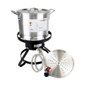 The Best Turkey Fryer Option: GasOne B-5155 Propane Burner with Steamer Pot-Fryer