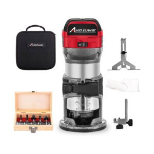 The Best Wood Router for Beginners Option: AVID POWER 6.5-Amp 1.25 HP Compact Router
