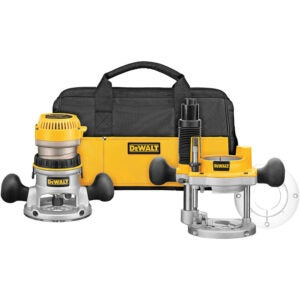The Best Wood Router for Beginners Option: DEWALT Router, Fixed Plunge Base Kit, Variable Speed