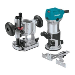 The Best Wood Router for Beginners Option: Makita RT0701CX7 1-1 4 HP Compact Router Kit