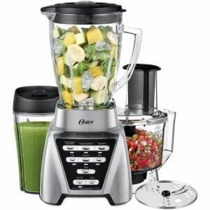 最佳搅拌机食品处理器组合选项:Oster搅拌机| Pro 1200与玻璃罐