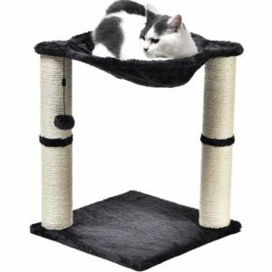 The Best Cat Tree Option: Amazon Basics Cat Condo Tree Tower With Hammock Bed