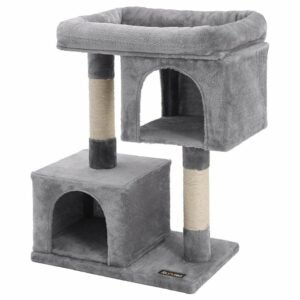 The Best Cat Tree Option: FEANDREA Cat Tree for Large Cats, Cat Tower 2 Condos