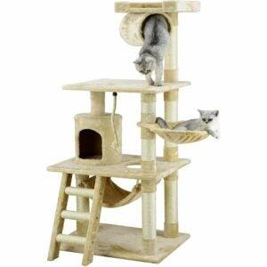 The Best Cat Tree Option: Go Pet Club 62-Inch Cat Tree, Beige