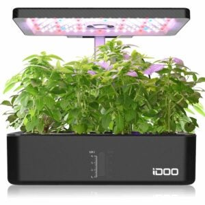 The Best Hydroponic System Option: iDOO Indoor Herb Garden Kit, Hydroponics System
