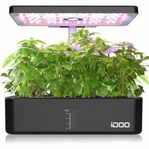 最好的水培系统选项:IDOO室内草本植物套件,水栽法系统