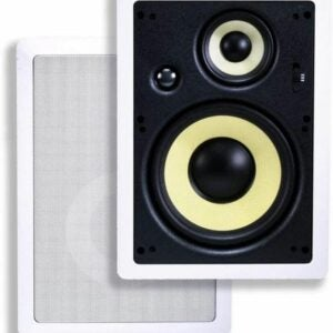 The Best In Wall Speakers Option: Monoprice 3-Way Fiber In-Wall Speakers - 8 Inch