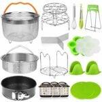 The Best Instant Pot Accessories Option: Aiduy 18 pieces Pressure Cooker Accessories Set