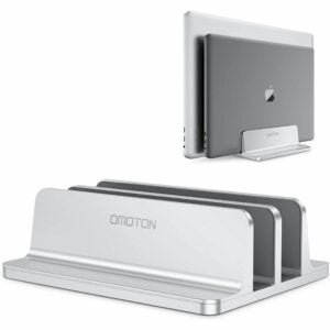 最好的笔记本电脑立场选项:Omoton垂直笔记本电脑架