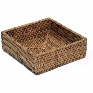 最好的餐巾纸选项:文物贸易公司藤编餐巾架