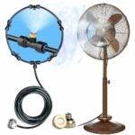 The Best Outdoor Misting Fan Option: HOMENOTE Fan Misting Kit for a Cool Patio Breeze