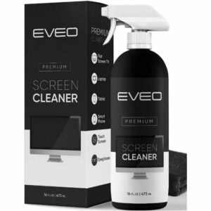 The Best Phone Cleaner Option: EVEO Screen Cleaner Spray (16oz) - Cloth Included