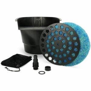 最好的池塘过滤器选项:AquaScape Pond过滤器和瀑布溢洪道