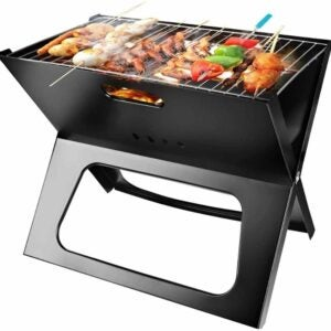 The Best Portable Charcoal Grill Option: Moclever Portable Charcoal Grill Space-saving