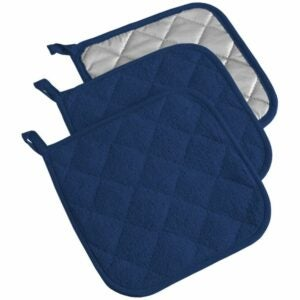 The Best Pot Holders Option: DII 100% Cotton, Quilted Terry Oven Set