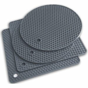 The Best Pot Holders Option: Q's INN Silicone Trivet Hot Pot Holders Drying Mat