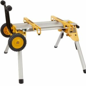 The Best Table Saw Accessories Option: DEWALT Table Saw Stand, Mobile/Rolling (DW7440RS)