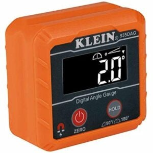 The Best Table Saw Accessories Option: Klein Tools 935DAG Digital Level and Angle Gauge