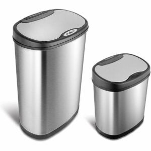 The Best Touchless Trash Can Option: NINESTARS CB-DZT-50-13/12-13 Automatic Touchless