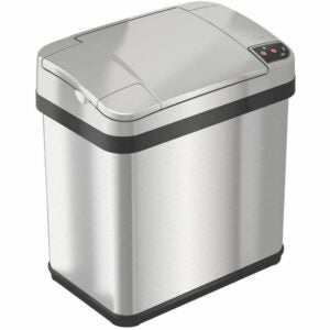 The Best Touchless Trash Can Option: iTouchless 2.5 Gallon Bathroom Touchless Trash Can