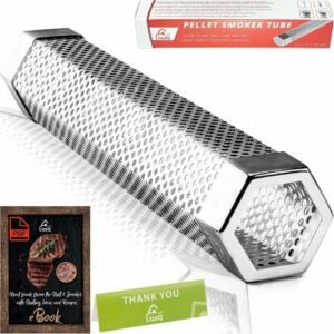The Best Vertical Pellet Smoker Option: LIZZQ Premium Pellet Smoker Tube