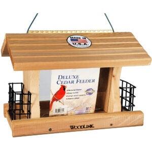 Best Bird Feeder For Cardinals Options: Woodlink Deluxe Cedar Bird Feeder