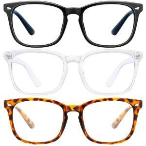 Best Blue Light Glasses Option: LNEKEI Blue Light Blocking Glasses 3Pack