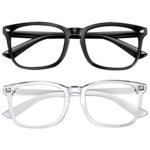 Best Blue Light Glasses Option: Feirdio Blue Light Blocking Glasses 2pack