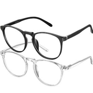 Best Blue Light Glasses Option: FEIYOLD Blue Light Blocking Glasses Women/Men (2Pack)