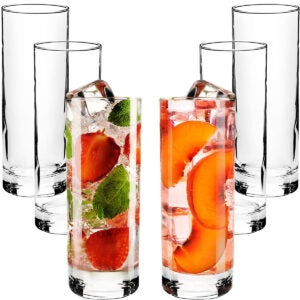 Best Cocktail Glasses Options: Highball Glasses with Heavy Base