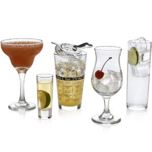 Best Cocktail Glasses Options: Libbey Mixologist 18-Piece Bar in a Box Cocktail Set