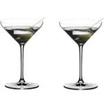 Best Cocktail Glasses Options: Riedel Extreme Martini Glass, Set of 2, Clear