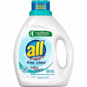 The Best Laundry Detergent for Odors Option: All Mighty Pacs Free Clear Odor Relief