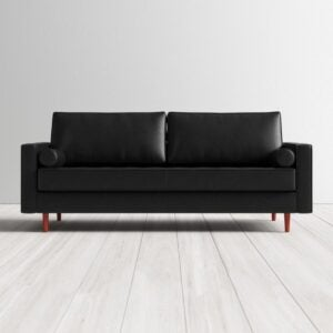 The Best Leather Sofa Option: AllModern Ainslee 84'' Genuine Leather Sofa