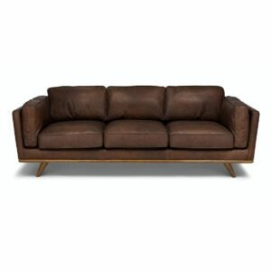 The Best Leather Sofa Option: Article Timber Charme Chocolat Sofa