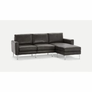 The Best Leather Sofa Option: Burrow Nomad Leather Sectional