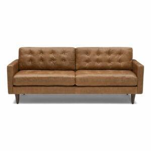 The Best Leather Sofa Option: Joybird Eliot Leather Sofa